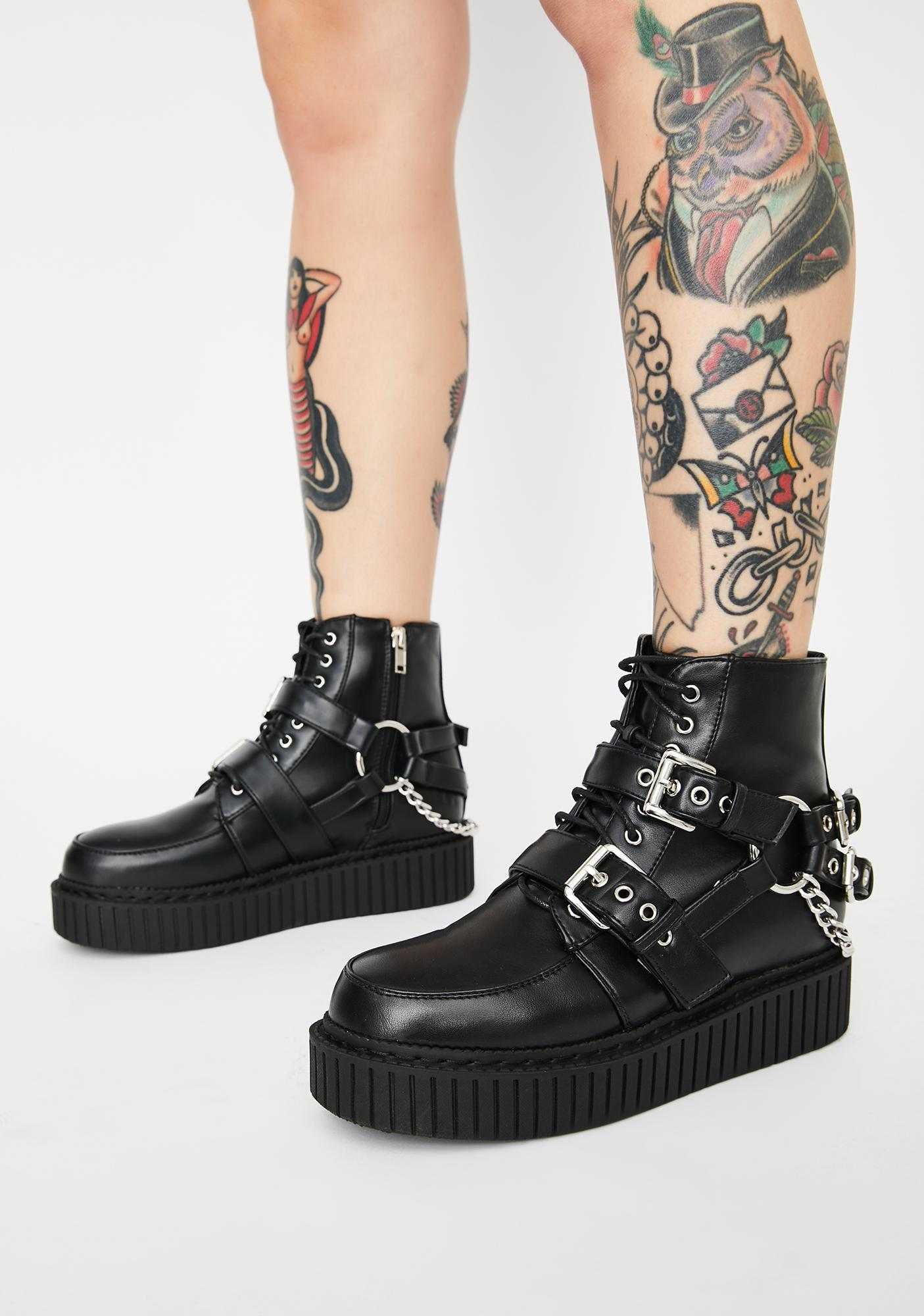 Lamoda Thrills Chain Creeper Boots