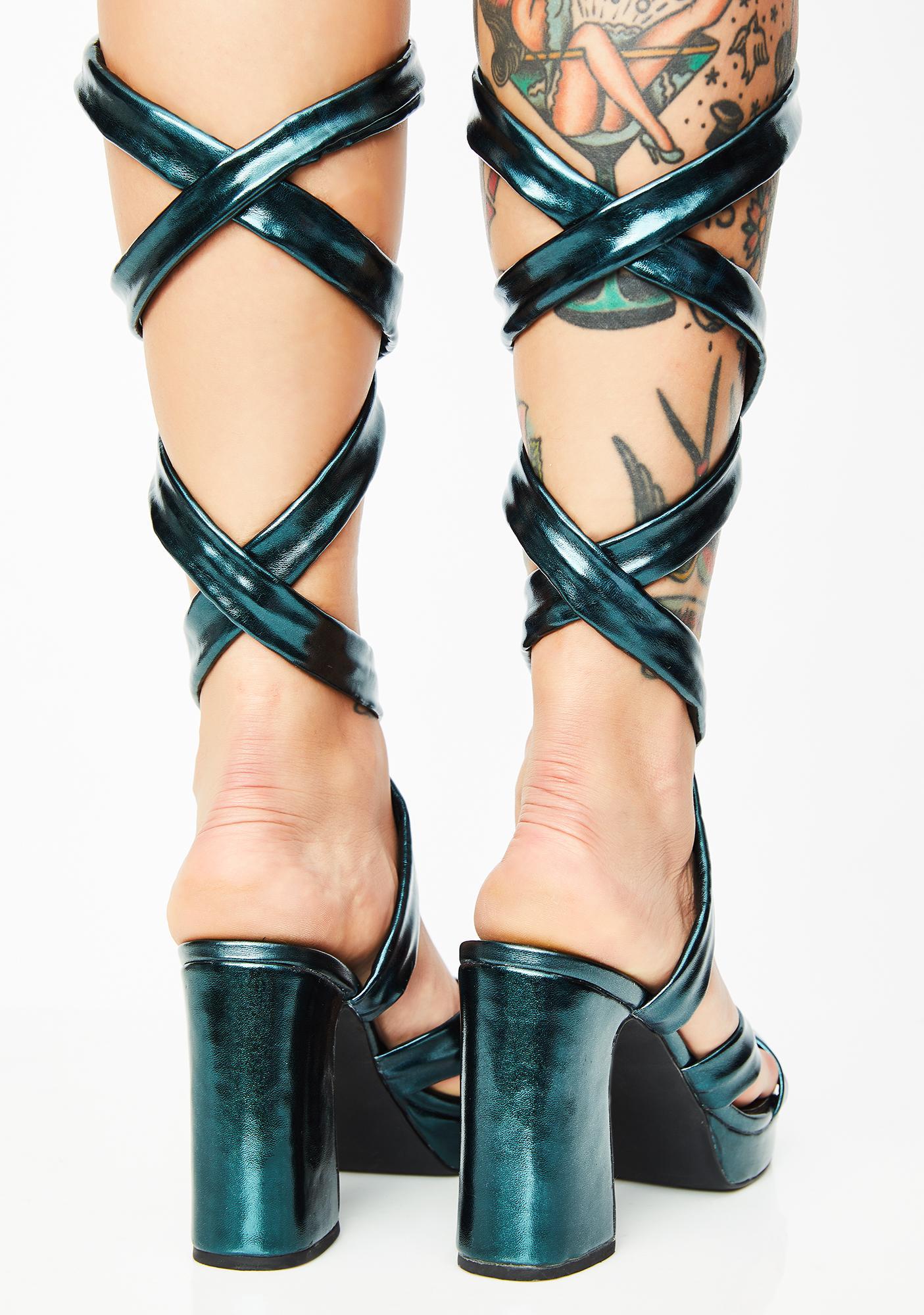Current Mood Electrik Doll Wrap Heels