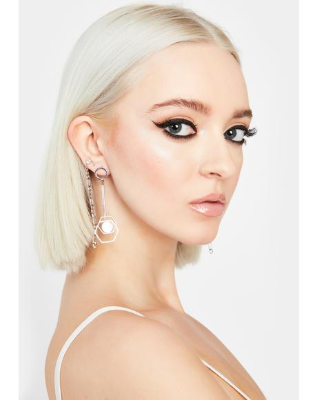 Hex This Chain Drop Earrings