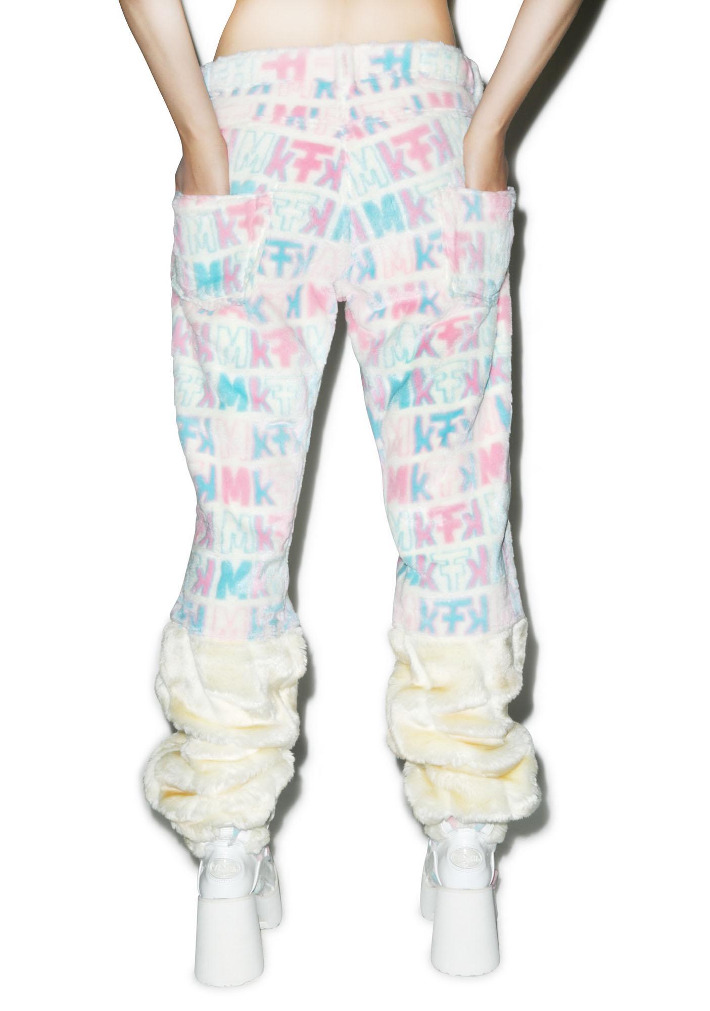 Maria ke Fisherman Pastel Fuzziness Logo Pants