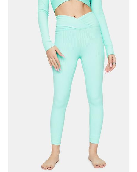 Mint Veronica Ribbed Leggings