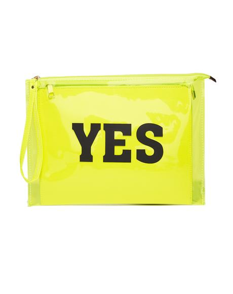 Lemon Undecided Clear Clutch