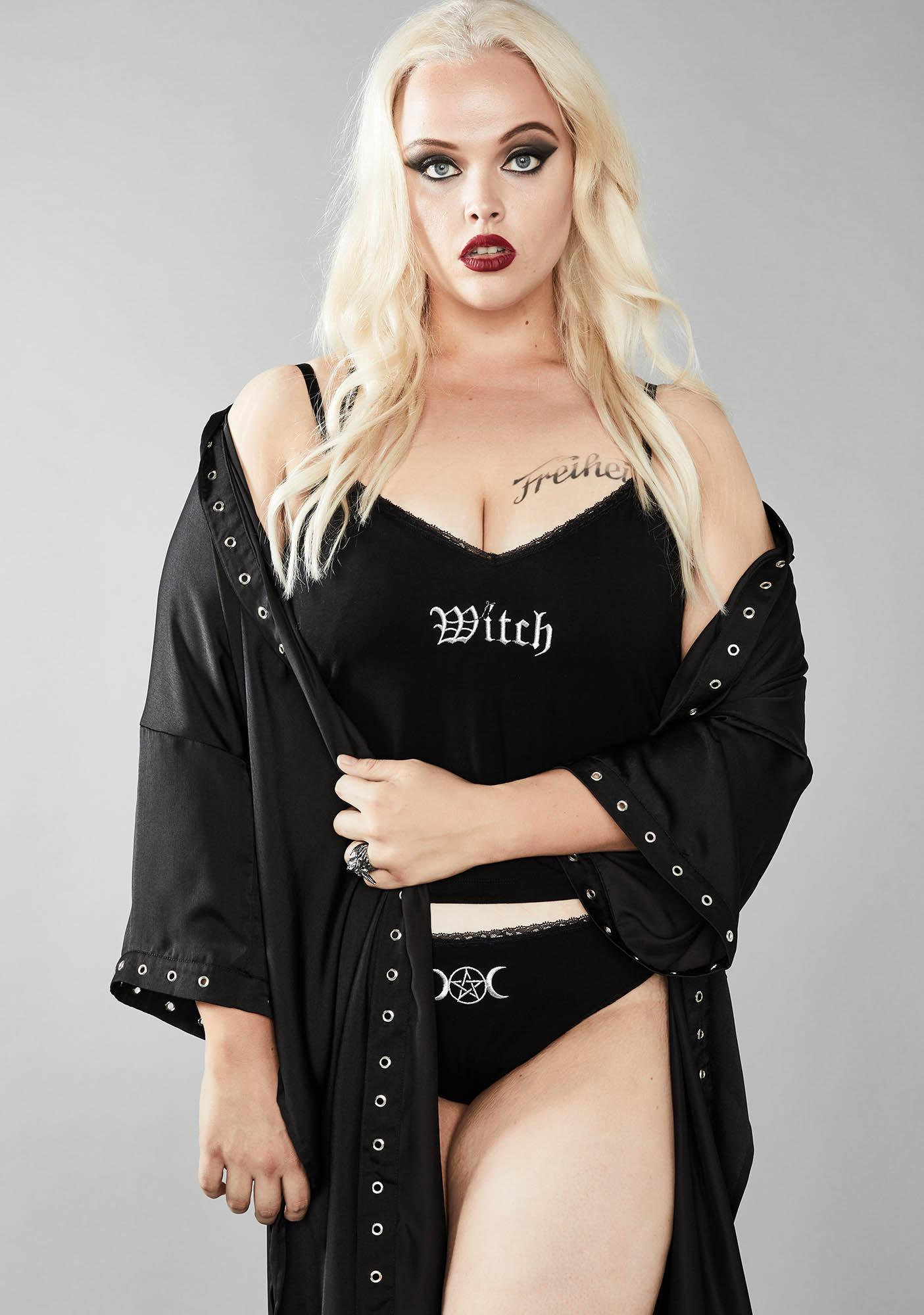 Widow Devilish Witch Tendencies Embroidered Set