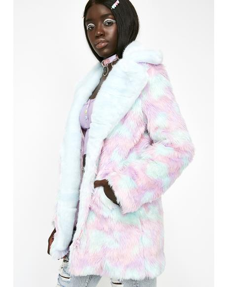 BonBon Delight Faux Fur Coat