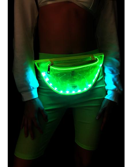 Space Alien Light Up Fanny Pack