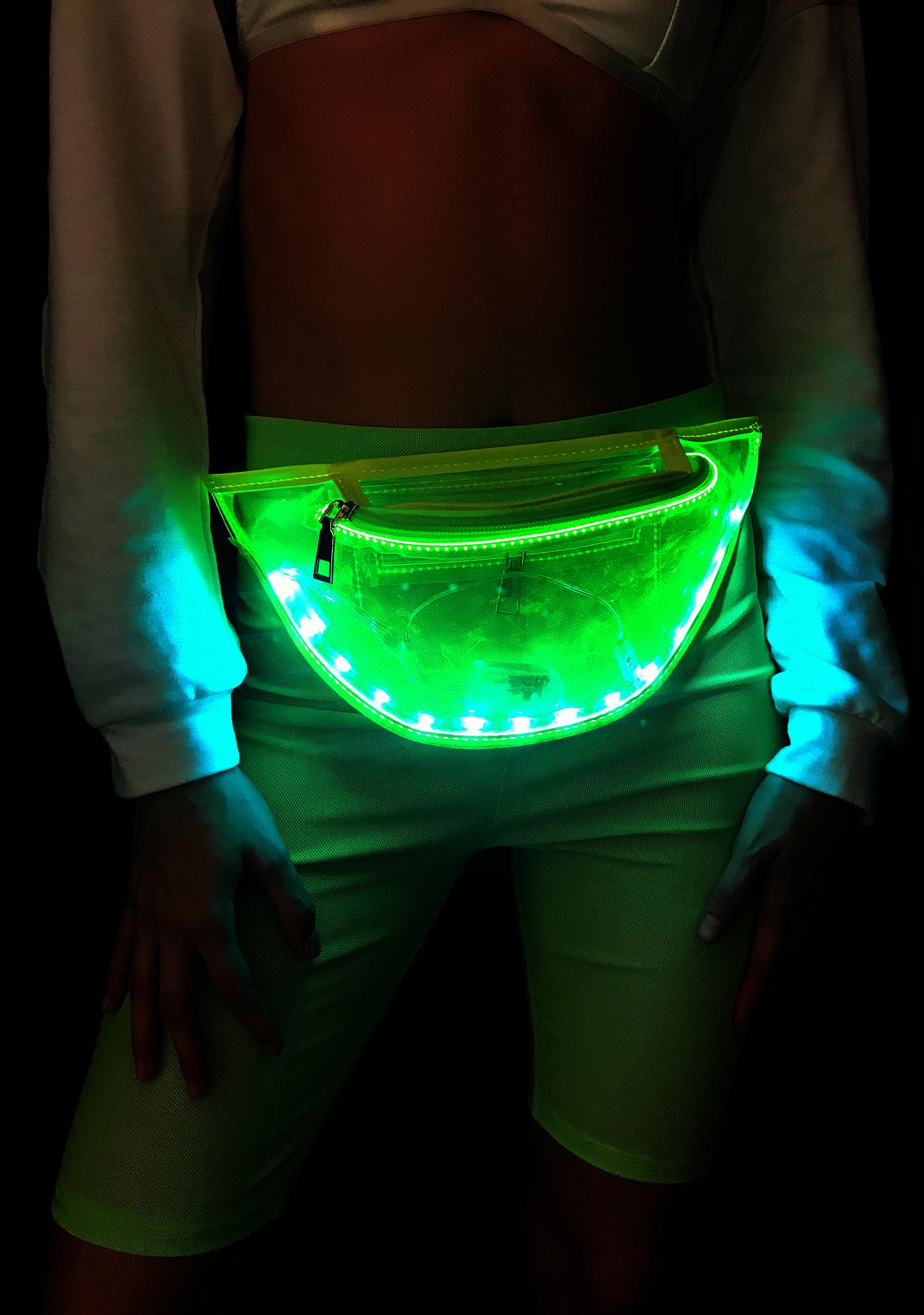 Space Alien Light Up Fanny Pack