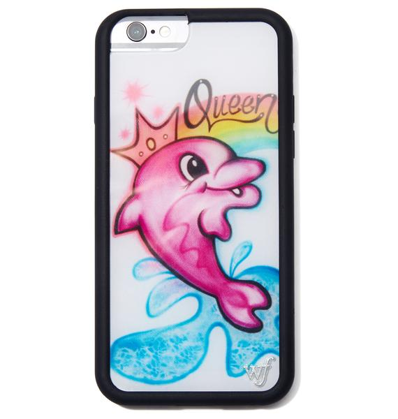 Wildflower Queen Dolphin iPhone Case