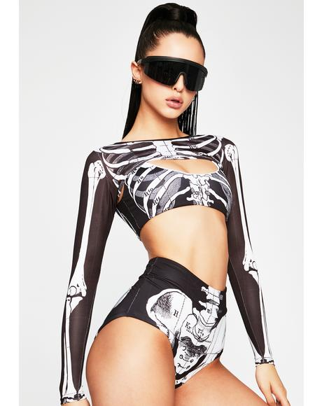 Skeleton Surf Bikini Set