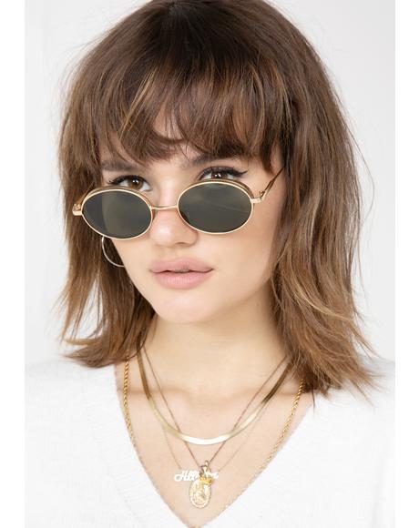 Glowin' Hell Freak Oval Sunglasses