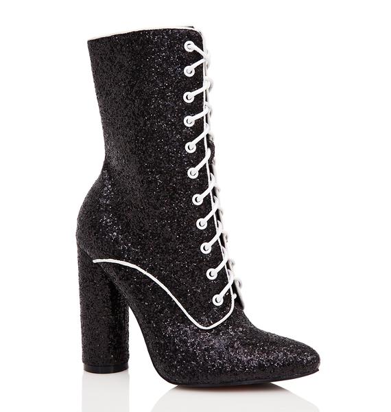 Shine Show Lace-Up Boots