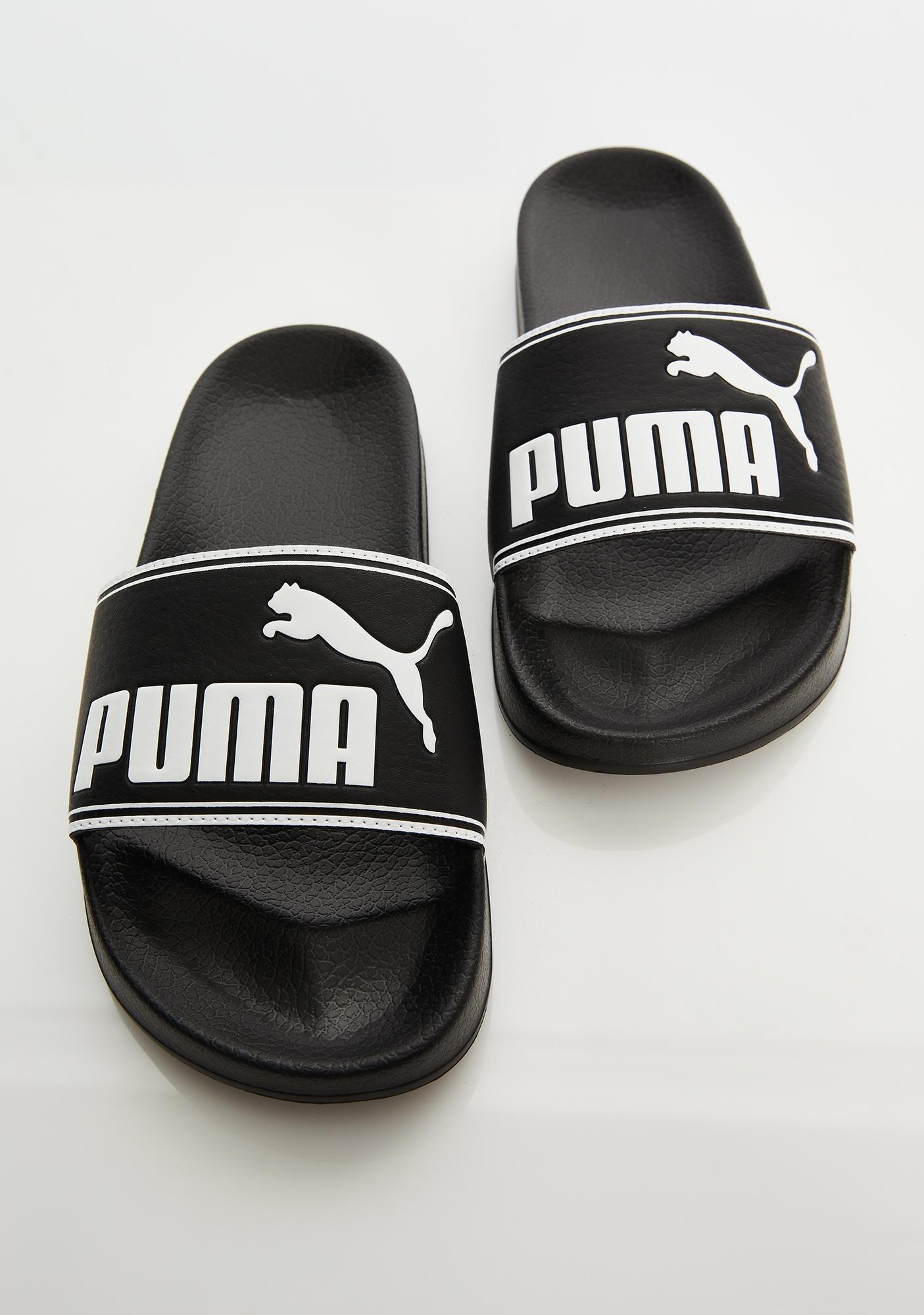 PUMA Dark Leadcat Slides
