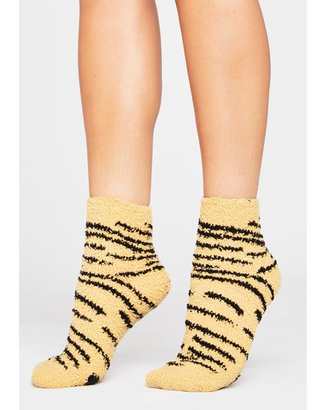 Just Grazin Fuzzy Ankle Socks