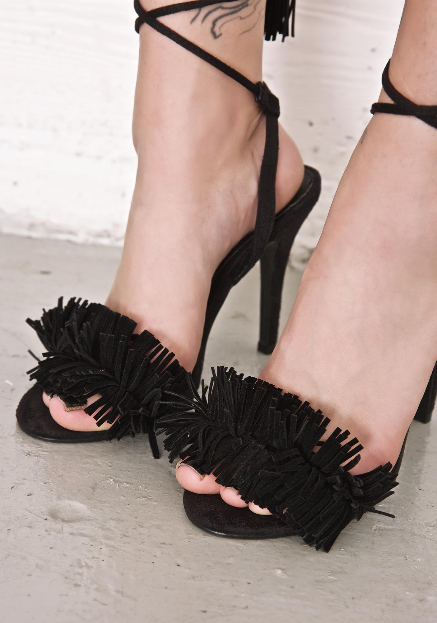Siren Lace-Up Heels