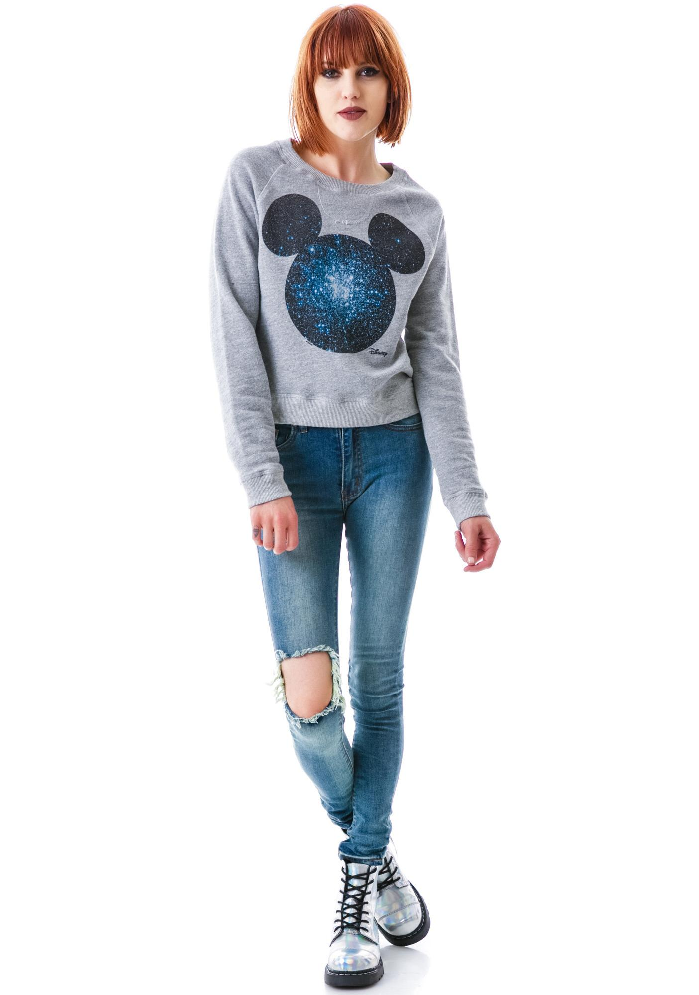 Junk Food Clothing Cosmic Mickey Pullover Sweatshirt