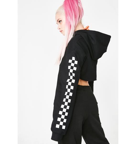 GoGuy Checkerboard Super Crop Hoodie