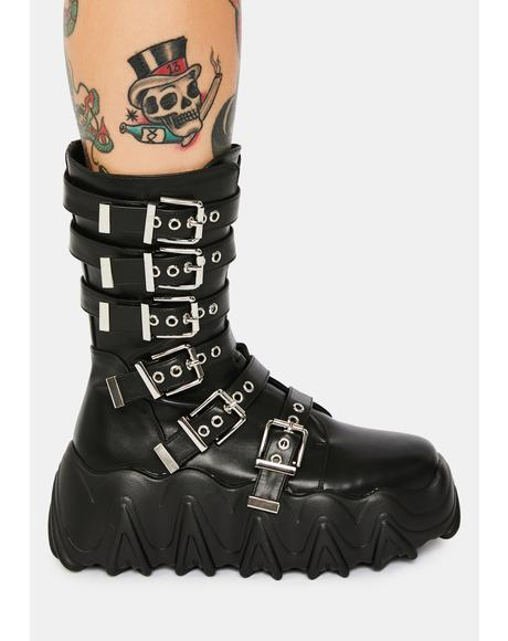 Lockdown Lovers Biker Boots