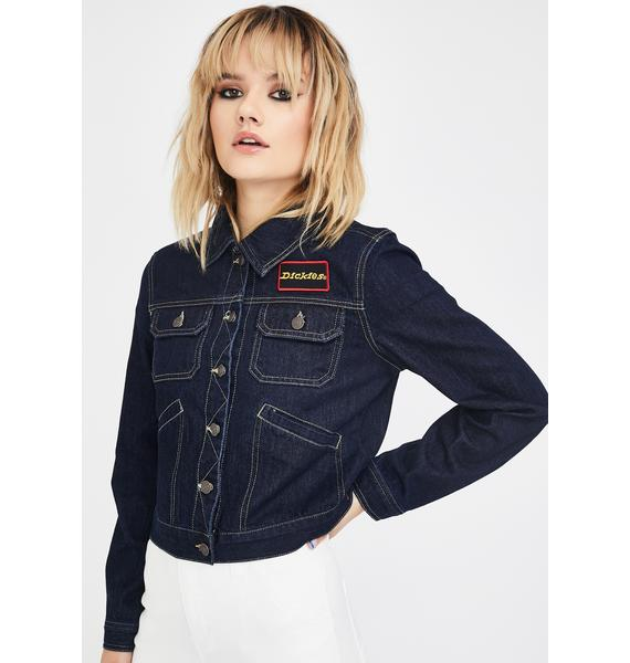 Dickies Girl Rinse Convoy Denim Jacket