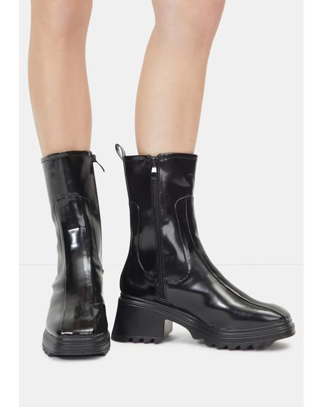 Late Rain On Me Mid Rise Ankle Boots