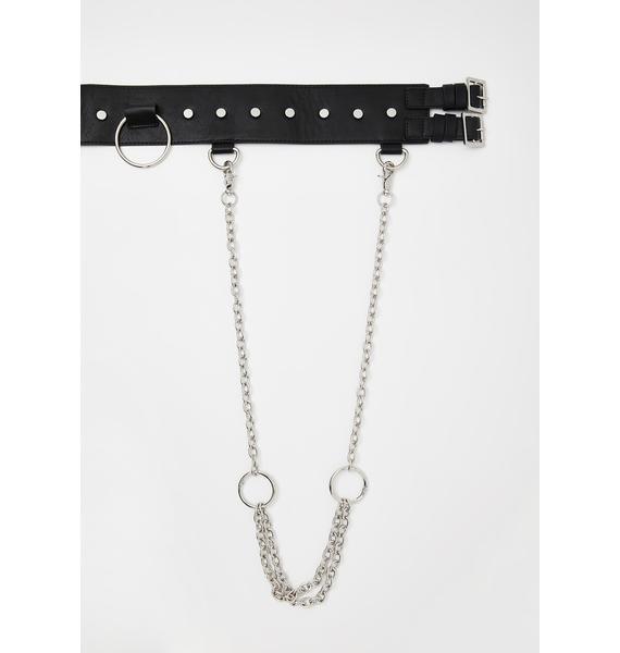 Disturbia Subvert Chain Harness Belt