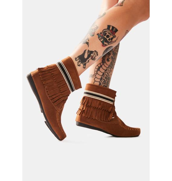 Rust Takin' It Easy Slipper Boots