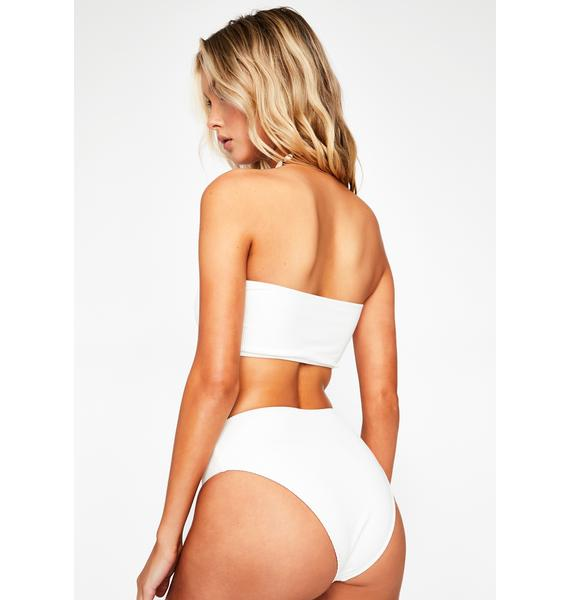 Frankies Bikinis White Jenna Bikini Bottoms