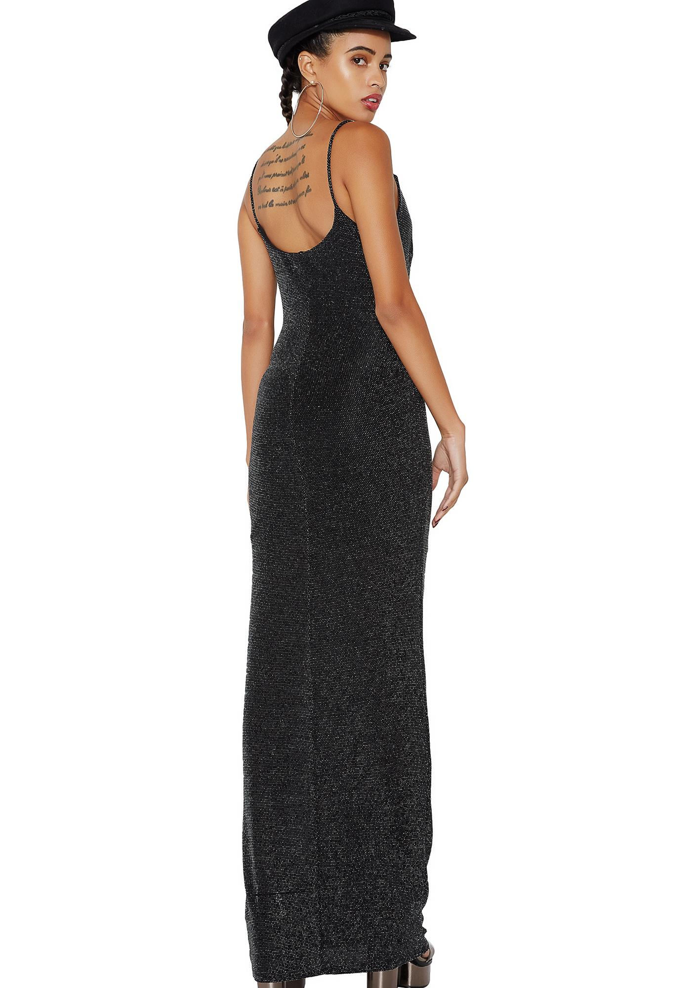 Queen Of The Night Shimmery Maxi Dress