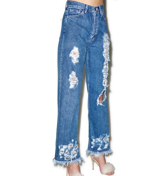 Little Sunny Bite Damaged Denim Jeans
