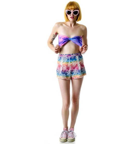 Marialia Cotton Candy Bowtie Bandeau Top