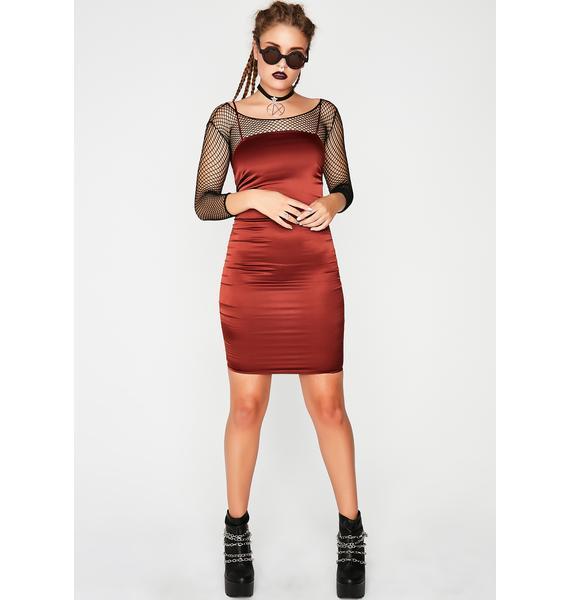 Most Desired Satin Dress