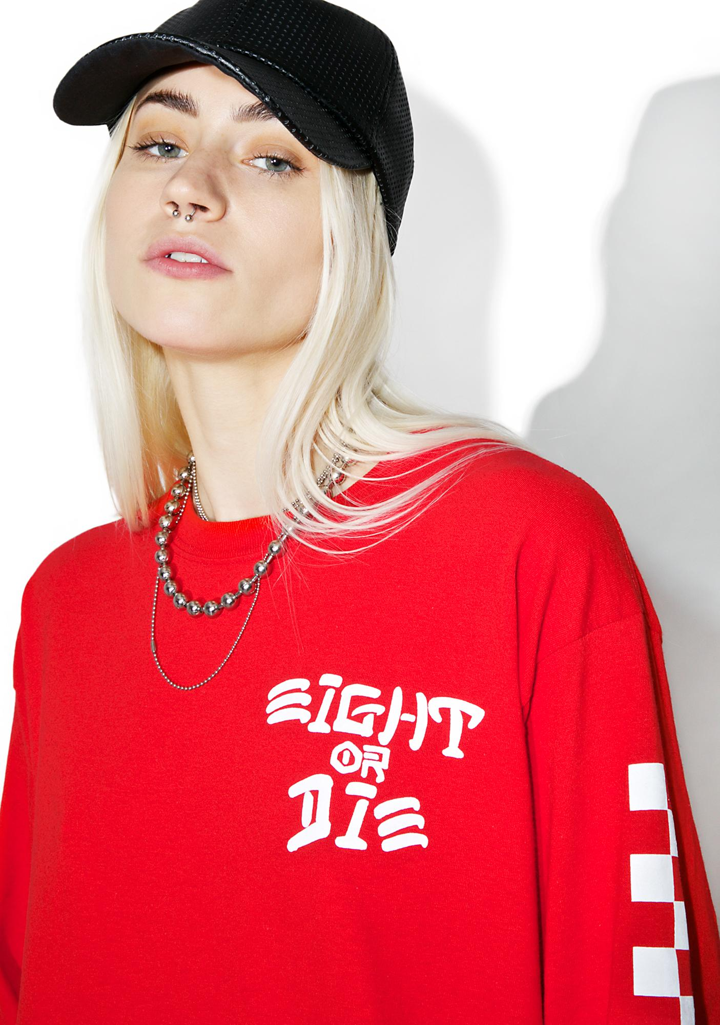 Rebel8 Eight Or Die Long Sleeve Tee