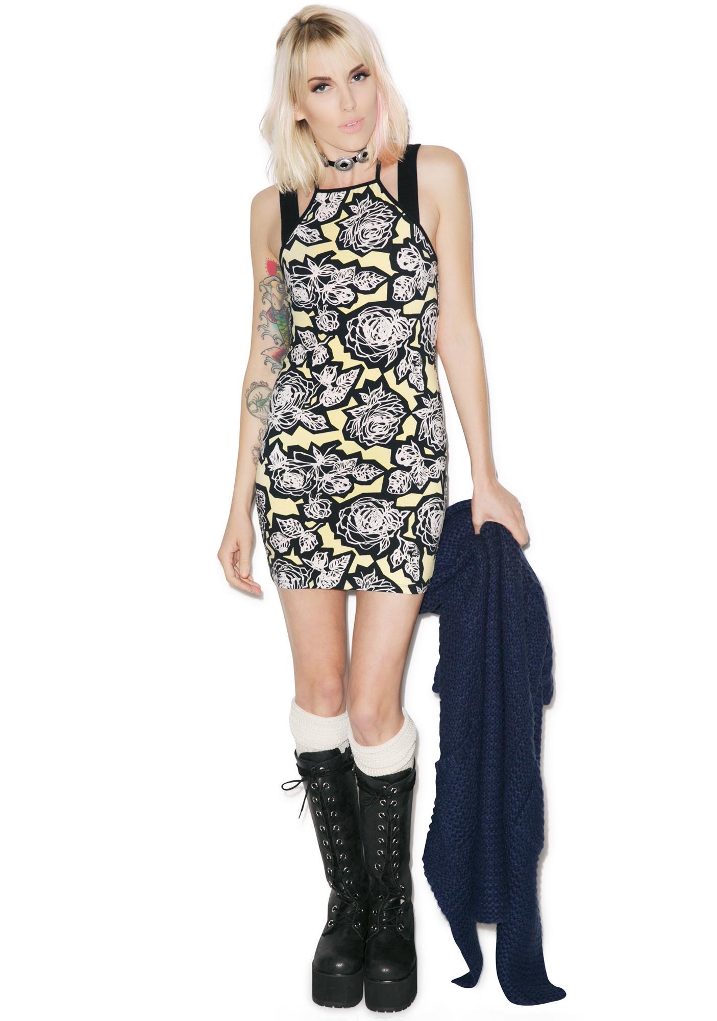 Motel Salvina Rose Halter Dress