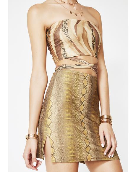 Gold Snake Skirt