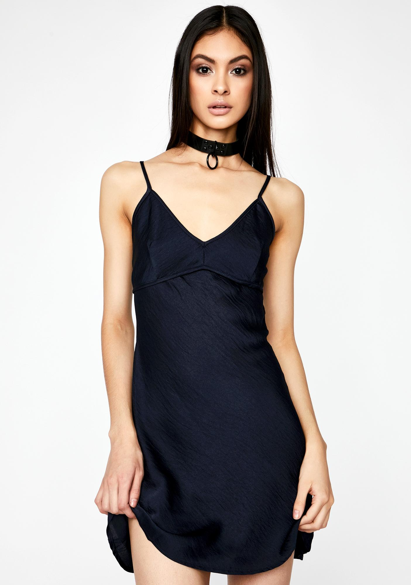 Plus One Satin Mini Dress
