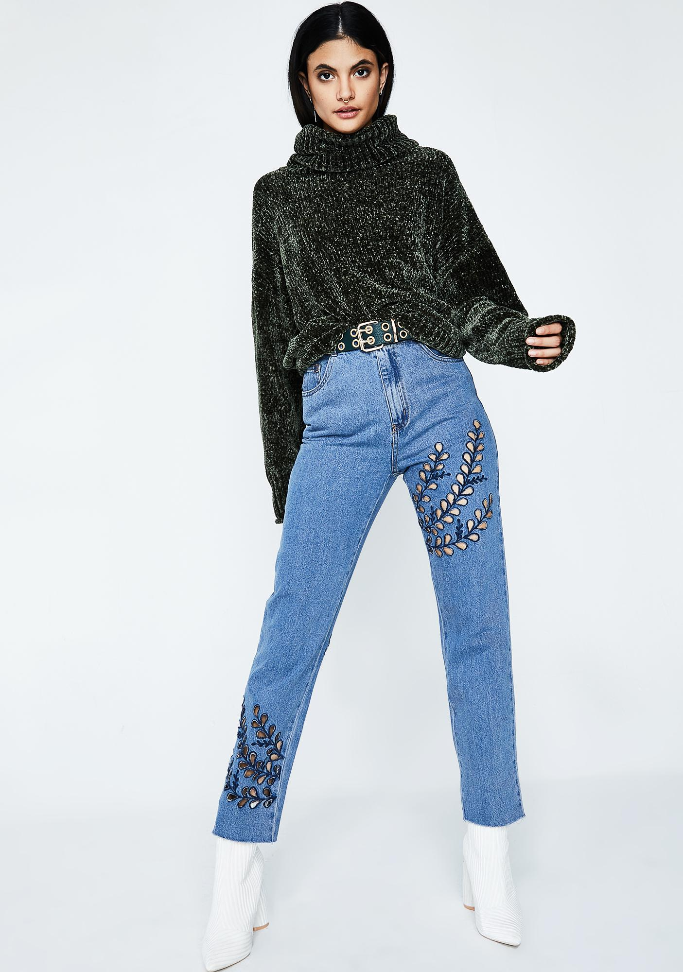 Spread The Word Cut-Out Jeans