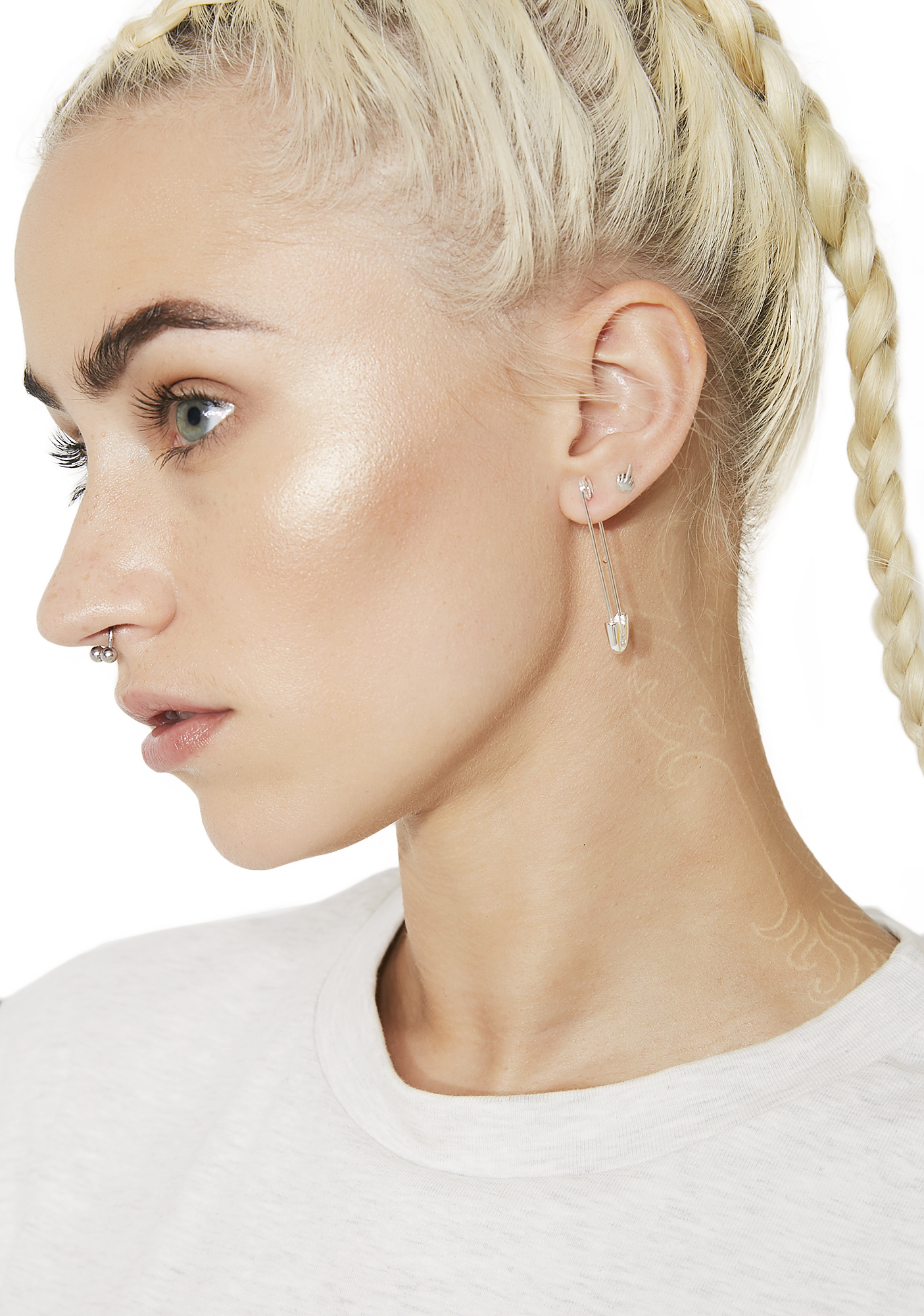 Cheap Monday Safety Pin Earrings