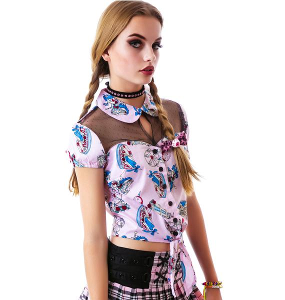 Hell Bunny Funfair Tie Top