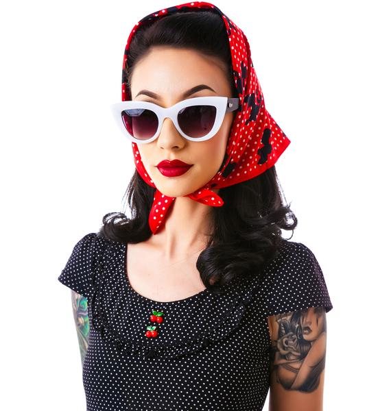 Sourpuss Clothing Rosie Poodles Scarf