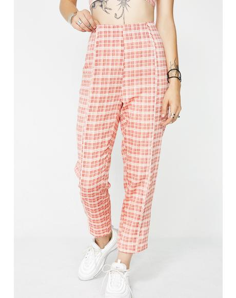 Candy Coated Plaid Pants