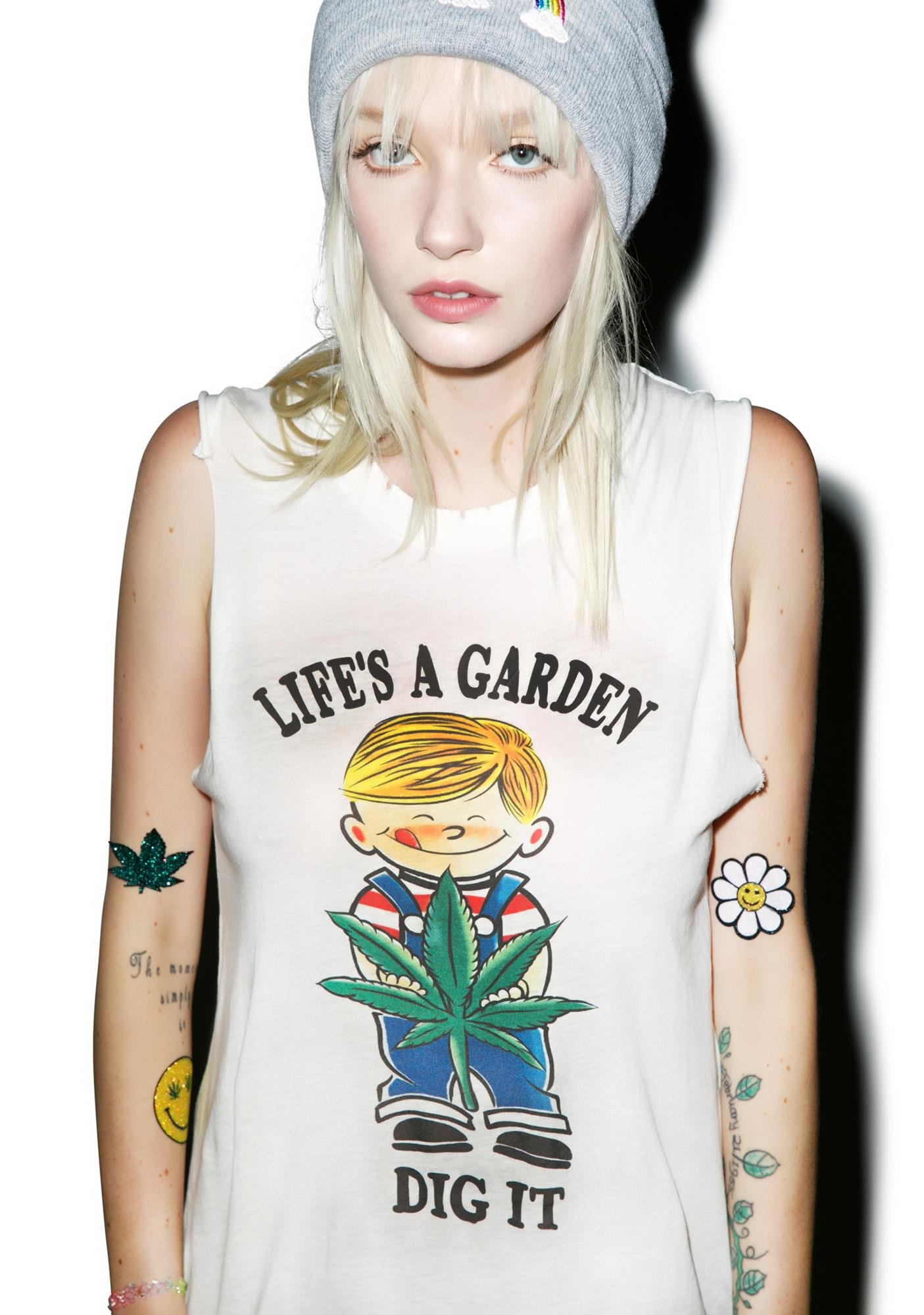 Petals and Peacocks Life's A Garden Tank Top
