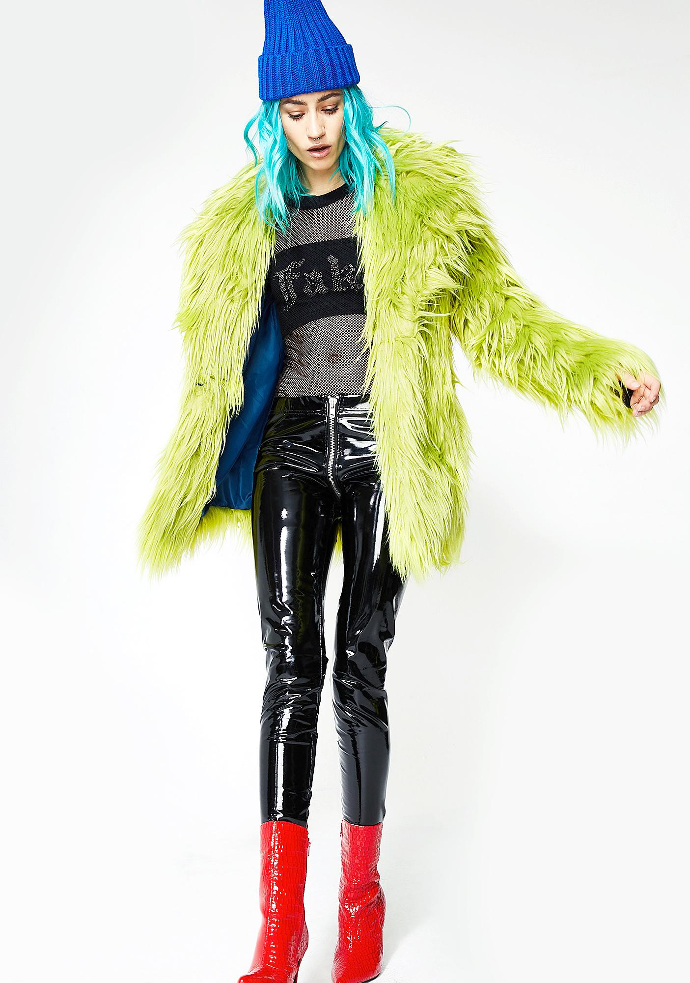 Current Mood Toxic Spill Fuzzy Coat