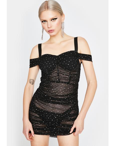 Stay Lit Mesh Dress