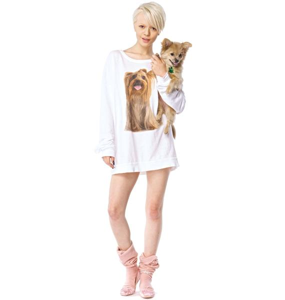 Wildfox Couture Granny's Dog Barefoot Sweater