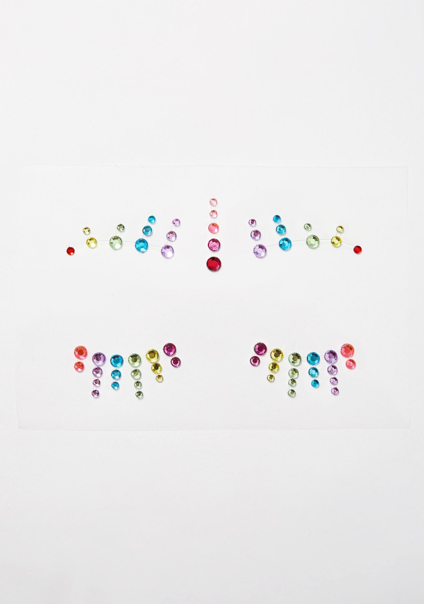 Glitter Disco Child Disco Confetti Face Gems