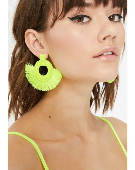 Sonic Vixen Fringe Earrings