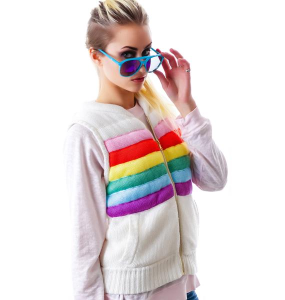 Wildfox Couture Rainbow TDB Zipper Vest