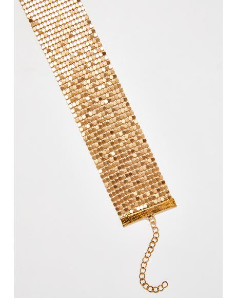 Golden Backseat Babe Chainmail Choker
