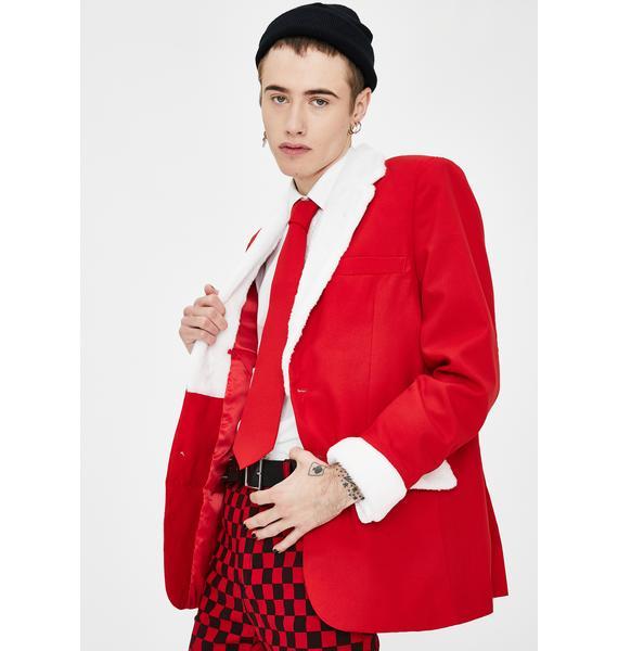 Tipsy Elves Furry Santa Oversized Blazer
