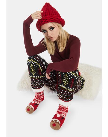 Santa's MVP Fuzzy Socks