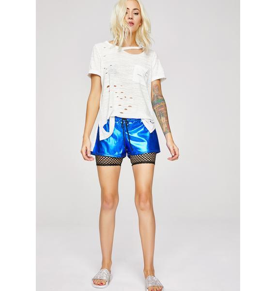 Perfect Catch Metallic Shorts
