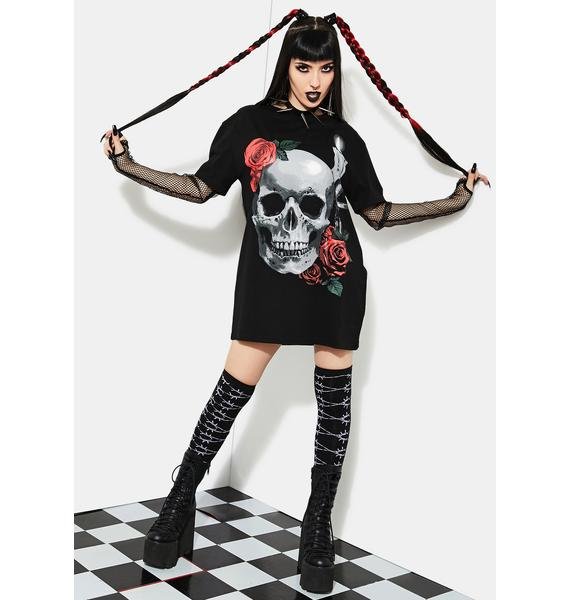 Current Mood Lonely Vigil Fishnet Graphic Tee